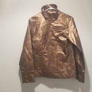 Women's Chico's Gold/Metallic Jacket size 1